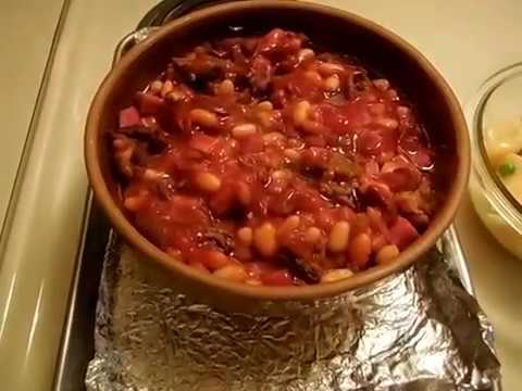 I'm making cowboy beans and, mmm, they are good!