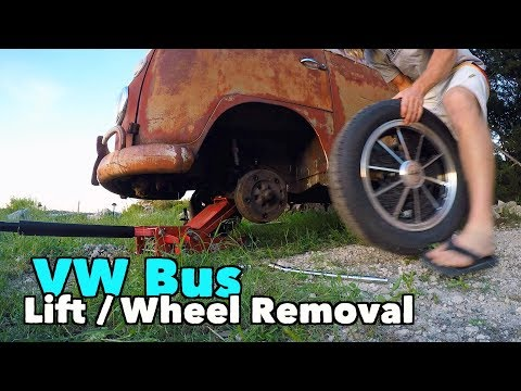 Early VW Bus - Front End Lifting / Wheel Removal