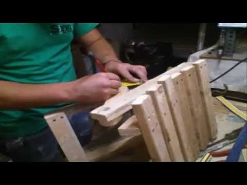 Homemade folding chair - wood work