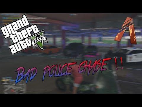 GTA 5 fiveM RolePlay Server - BAD POLICE CHASE! ... I suck!!