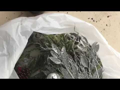 Do it yourself Prelit Christmas Garland with Ornaments