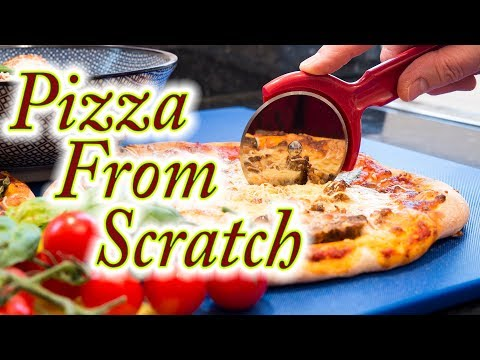Pizza dough made easy at home from scratch.