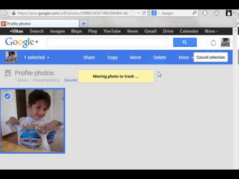 How to delete picture from your google profile