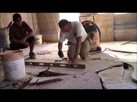 Setting Flagstone in Mortar