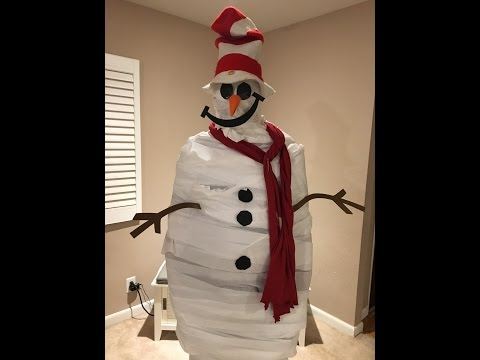Turn Dad into a Snowman