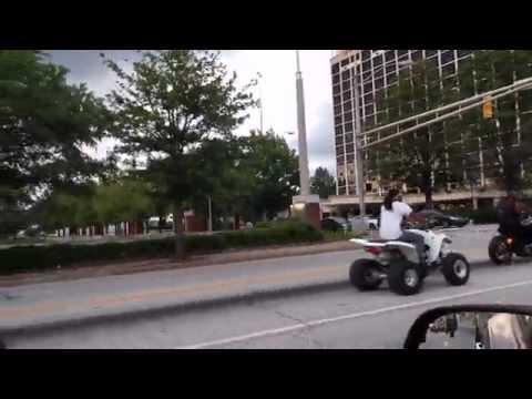 Bikers And ATVs Clog Up Traffic In Atlanta!