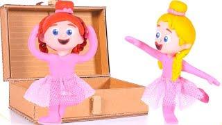 GIRLS DANCING CLASSICAL BALLET ❤ PLAY DOH CARTOONS FOR KIDS