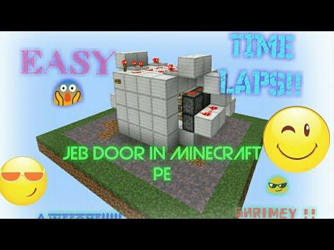 √ Tutorial: Compact JeB Door in Minecraft PE!!