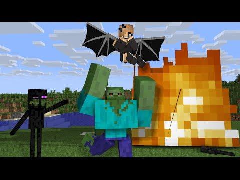 Top Flying Monster School - Minecraft Animation