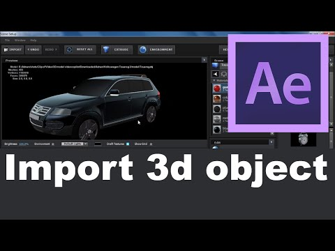 Adobe After Effects- How to import 3D object in AfterFx- Hindi