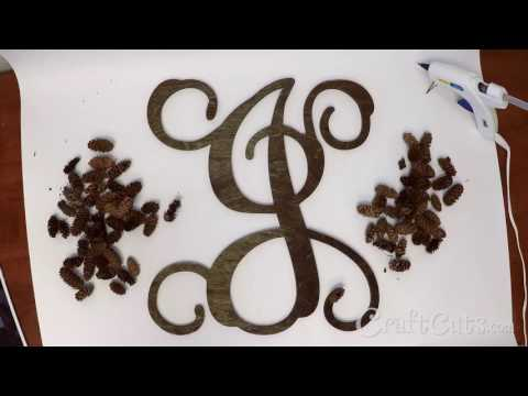 Pine Cone Vine Monogram Wreath DIY