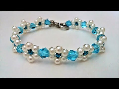 How to make a beaded flower bracelet. Beginners project