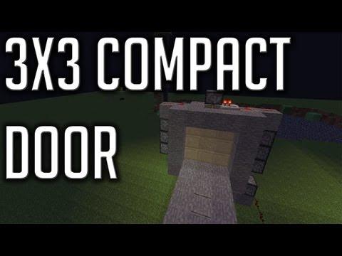 Super Compact 3x3 Piston Door [Minecraft Redstone Tutorial]