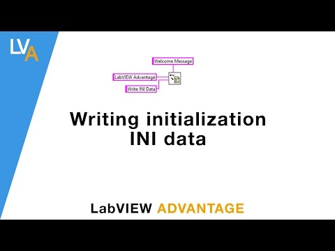 How to write into configuration INI file - LabVIEW