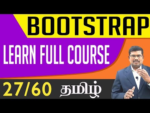 #27 Bootstrap in tamil
