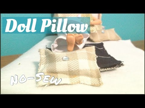 How to Make a No-Sew doll pillow