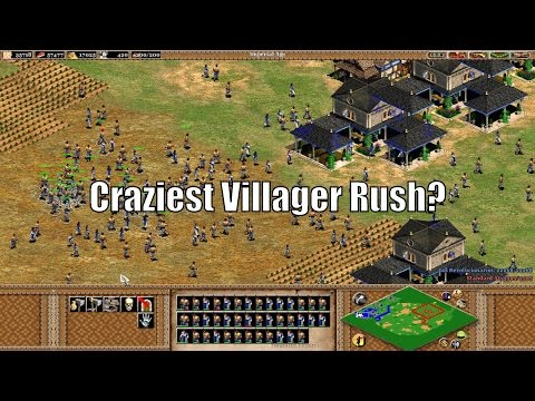 AoE2 - Craziest Villager Rush Ever?