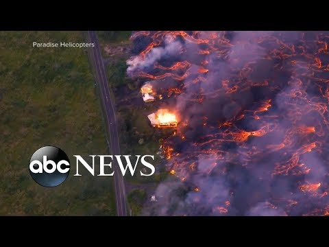 Lava flows cut off critical access point