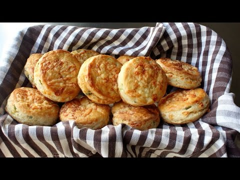 Irish Cheddar Spring Onion Biscuits - Savory Cheddar Green Onion Biscuit Recipe