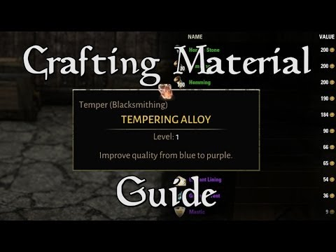 ESO Guide - Best Way To Mass Upgrade Materials