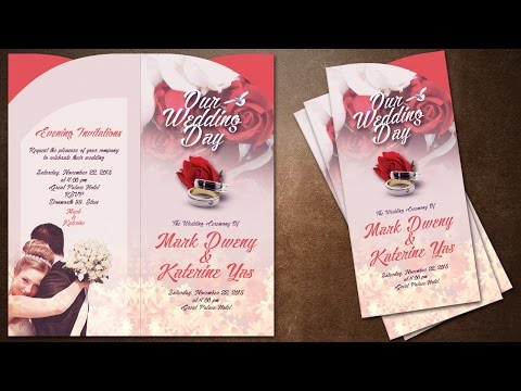 How To Make Creative Wedding Invitations Cover In Photoshop