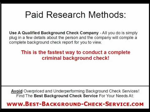 Criminal Background Check:  Free Methods Vs Paid Background Check Services