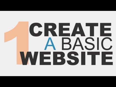 Learn the Basics: Create a Basic Website Using HTML5 - Part 1