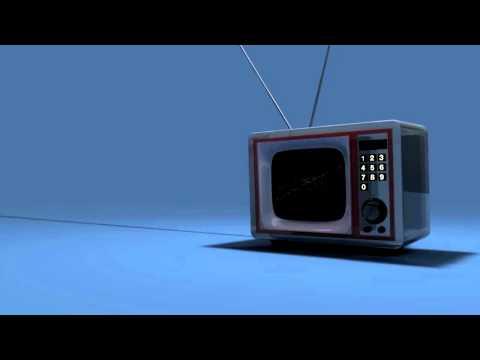 Retro TV Intro Cinema 4d With Template