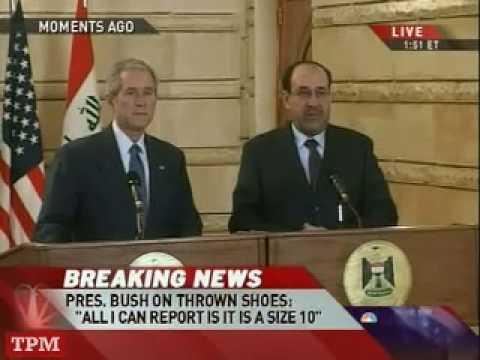Bush Dodges Shoes Thrown by Iraqi Journalist