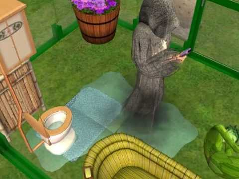 The sims 2-Never Put a Plant sim in water!!!!