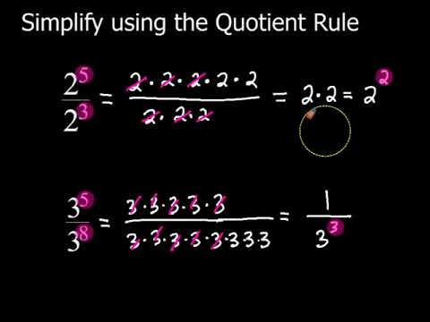 03 Exponent Rules - The Quotient Rule
