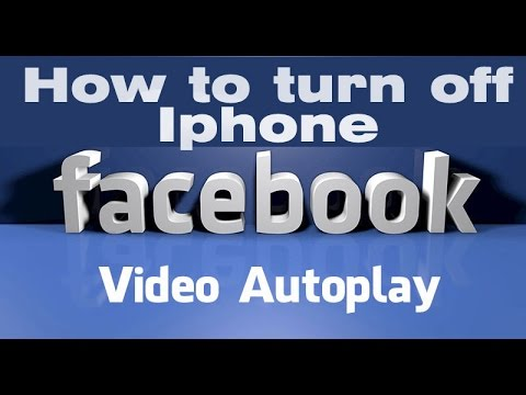 How To Turn Off Facebook Video Auto-Play On Iphone, Ipod, Ipad, Ipad Air.