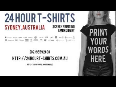 Band T-shirt Printing Sydney: 24 Hour T-shirts