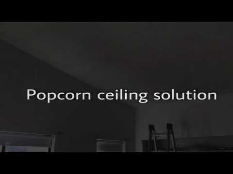 Popcorn ceiling solution!  New way to get rid of annoying popcorn!