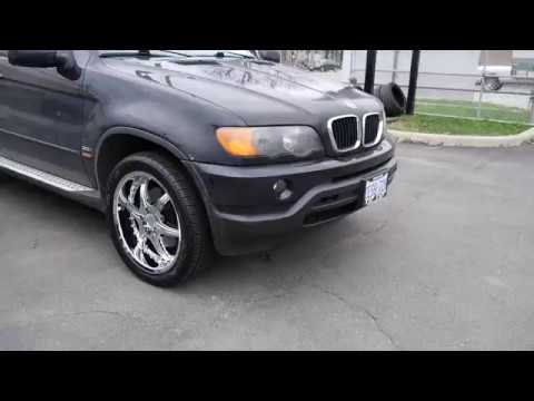 2006 BMW X5 WITH 20 INCH CHROME RIMS & TIRES