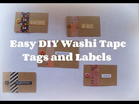 Easy Washi tape Tags / How to  make tags and labels/ DIY Labels