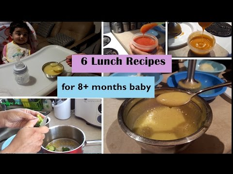 6 Lunch Recipes for 8+ months baby (Stage 3 - homemade baby food recipes)  8+ months babyfoodrecipes