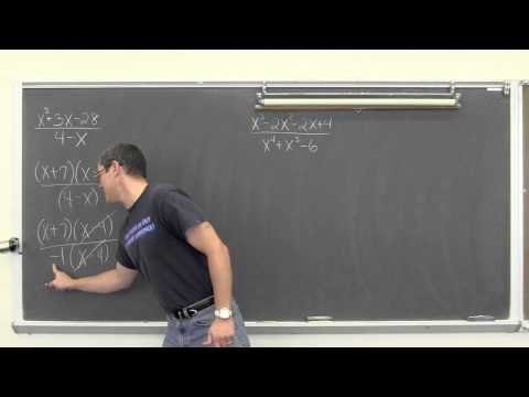 Rational Algebraic Expressions Simplified