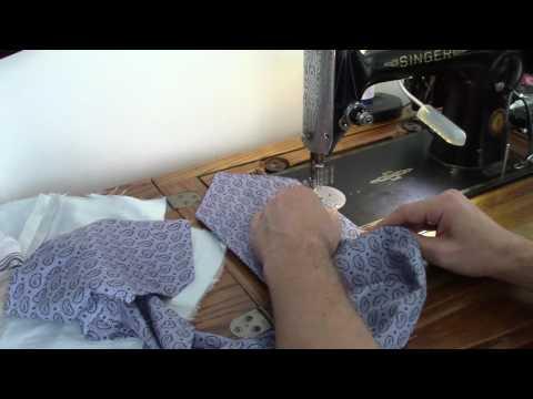 Making Cravat and Pocket Kerchief on Singer 201K