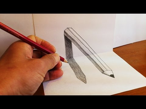 How to draw 3D pencil art - Optical Illusion on paper
