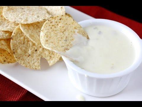 Queso Blanco Cheese Dip Recipe - Nacho Cheese Sauce by khana academy