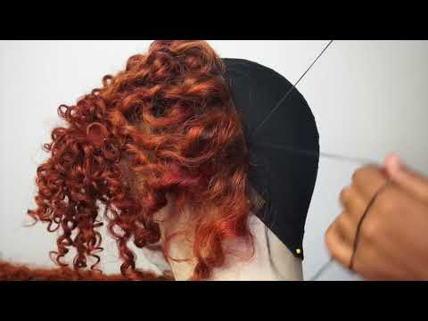 HOW TO SEW A FRONTAL TO A DOME CAP   FT. CHOCHAIR BRAZILIAN JERRY CURLY HAIR