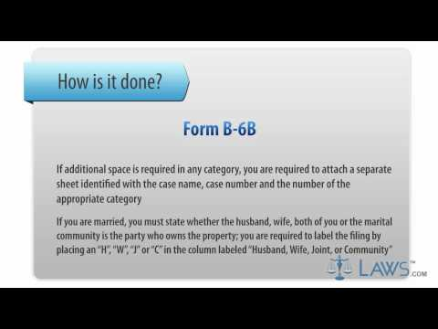 Learn How to Fill the Form B-6B Schedule B - Personal Property