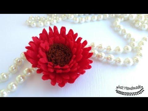 ~JustHandmade~ DIY felt flowers - chrysanthemum - Part 5