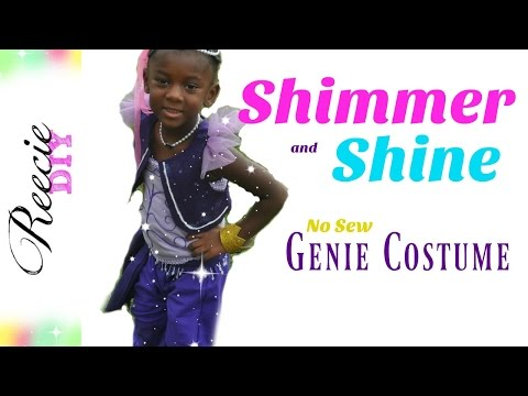 How to make a Shimmer and Shine Costume (NO-SEW)