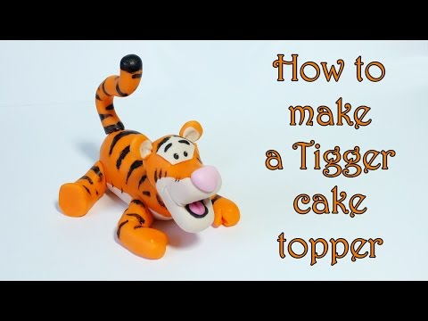How to make a Tigger cake topper / Jak zrobić figurkę Tygryska z masy cukrowej