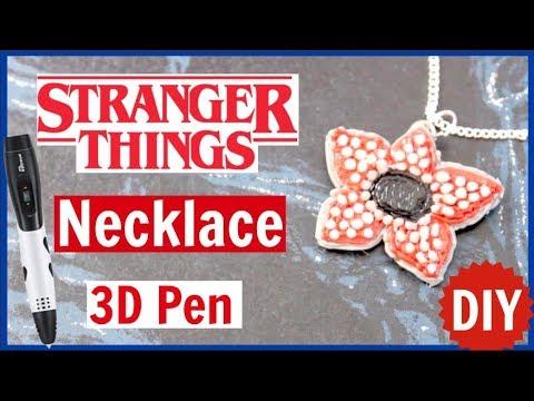 DIY Stranger Things Demogorgon Necklace // Tipeye 3D Pen Tutorial