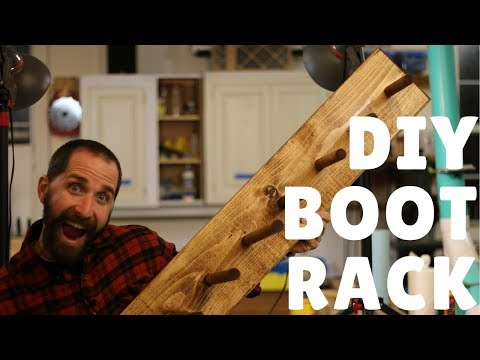 DIY: How to Make a Super Simple Boot Rack