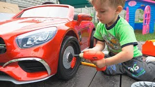 Funny Arthur unboxing and assembling gift present cool car   AMG for Melissa