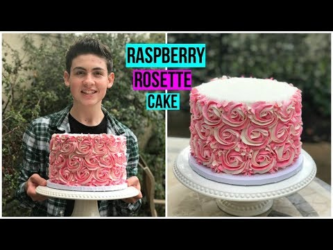 RASPBERRY ROSETTE CAKE - Baking With Ryan Episode 64